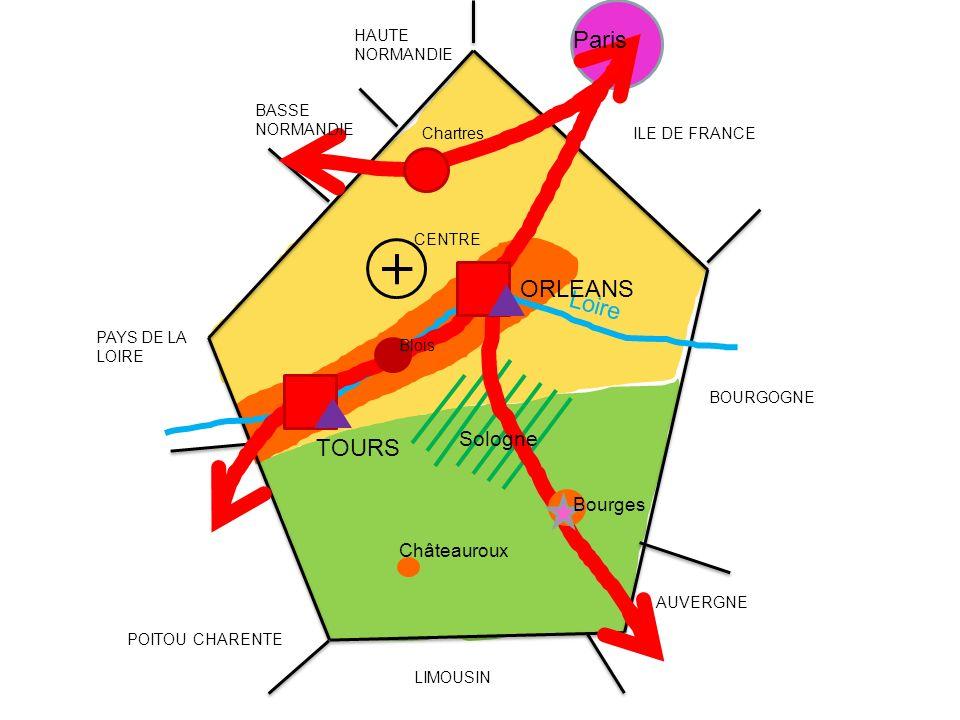 Paris ORLEANS Loire TOURS Sologne Bourges Châteauroux HAUTE NORMANDIE