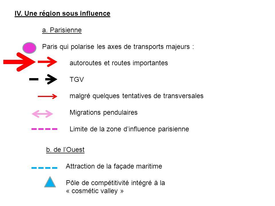 IV. Une région sous influence
