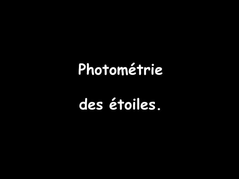 Photométrie des étoiles.
