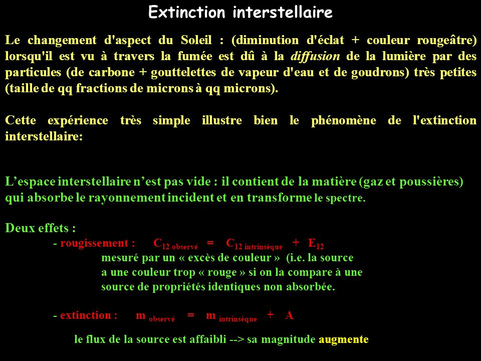Extinction interstellaire