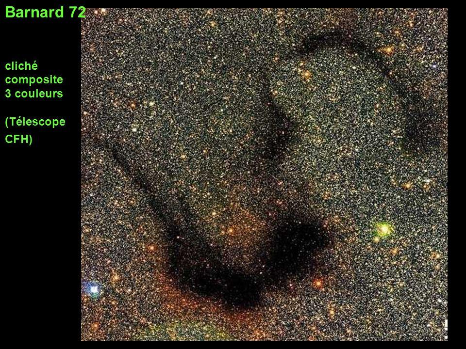 Barnard 72 cliché composite 3 couleurs (Télescope CFH)