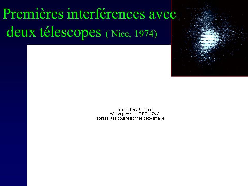 Premières interférences avec deux télescopes ( Nice, 1974)