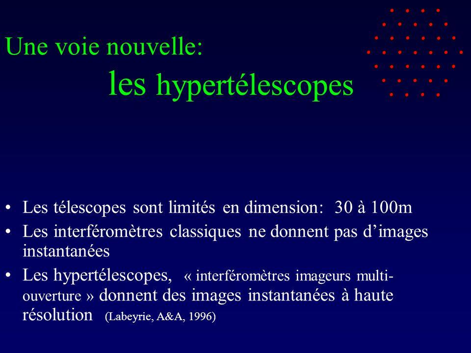 Une voie nouvelle: les hypertélescopes