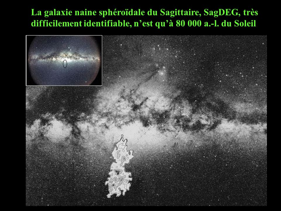 La galaxie naine sphéroïdale du Sagittaire, SagDEG, très