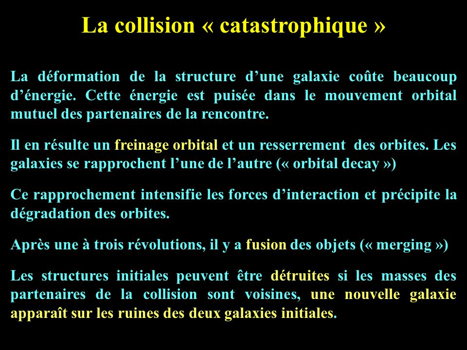 La collision « catastrophique »