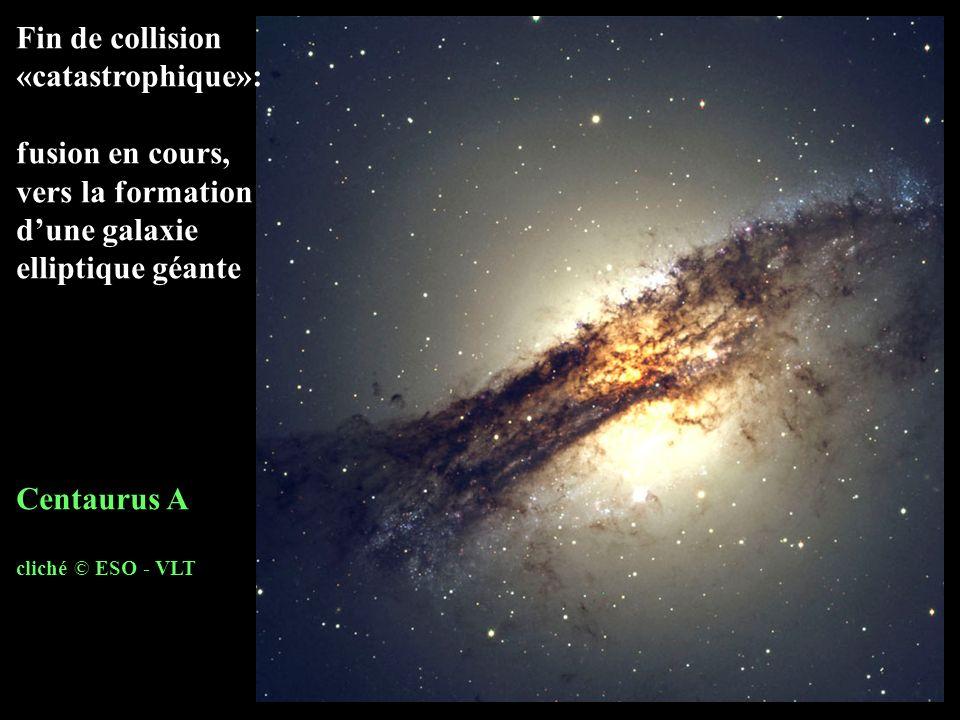 vers la formation d'une galaxie elliptique géante