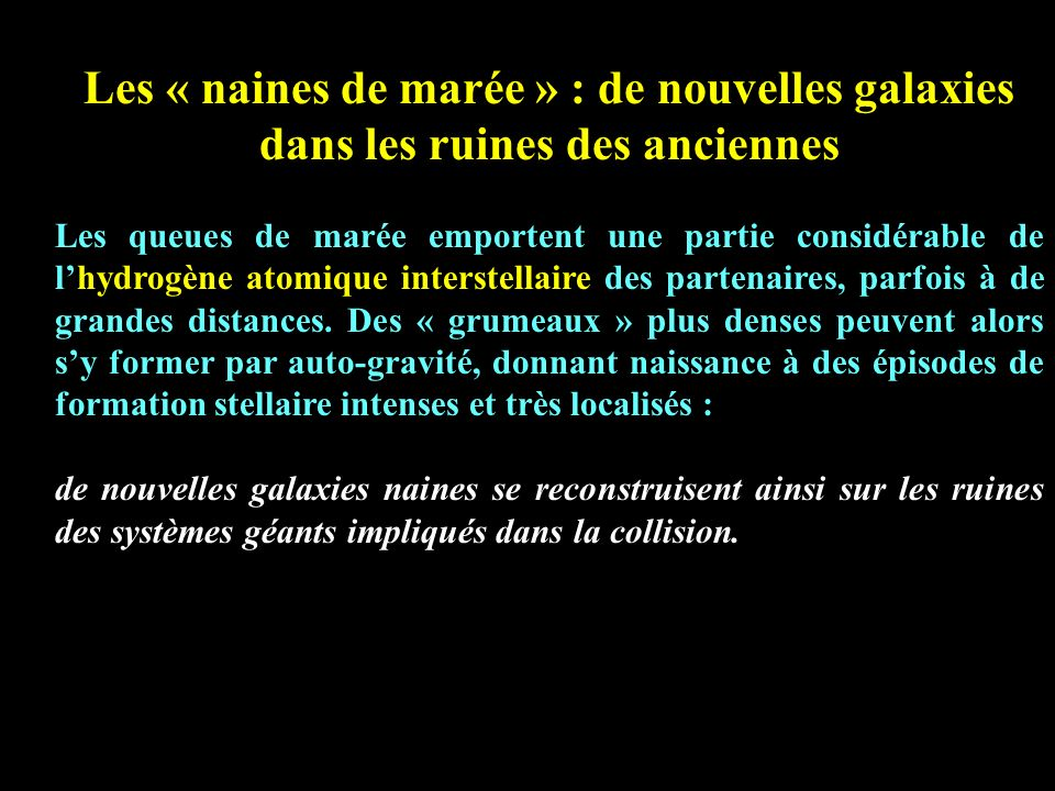 Les « naines de marée » : de nouvelles galaxies