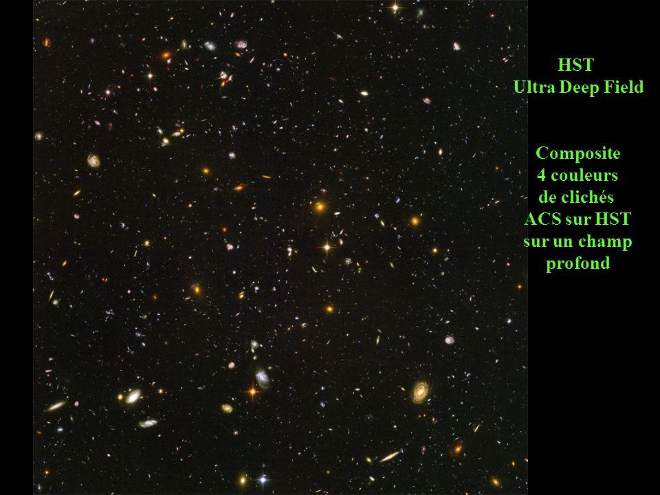 HST Ultra Deep Field Composite 4 couleurs de clichés ACS sur HST sur un champ profond