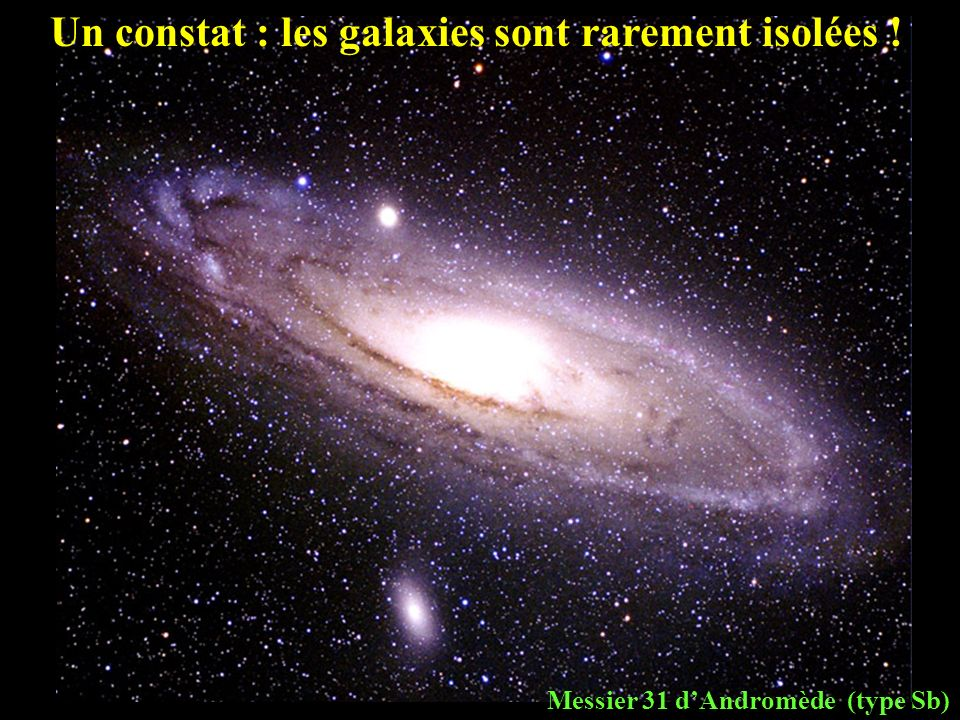 Un constat : les galaxies sont rarement isolées !