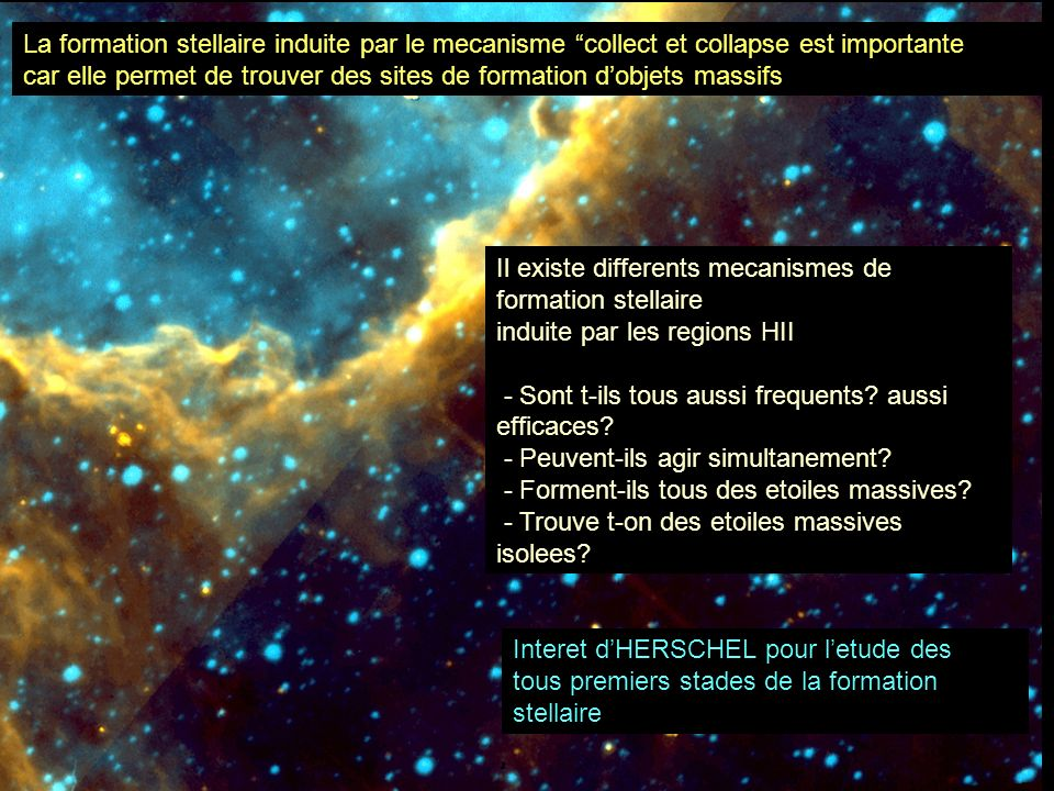 La formation stellaire induite par le mecanisme collect et collapse est importante