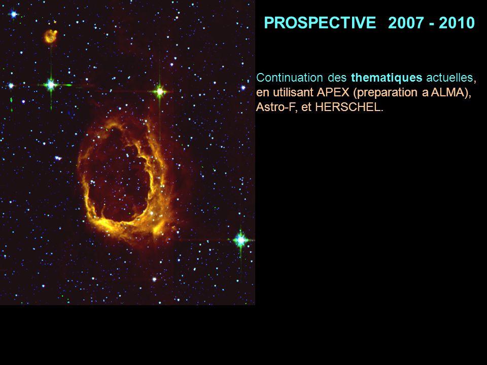 PROSPECTIVE 2007 - 2010 Continuation des thematiques actuelles,
