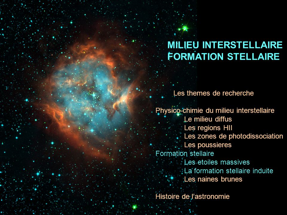 MILIEU INTERSTELLAIRE FORMATION STELLAIRE