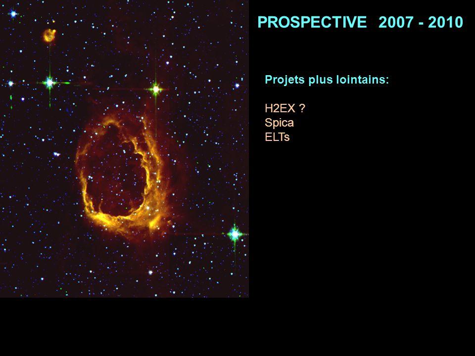 PROSPECTIVE 2007 - 2010 Projets plus lointains: H2EX Spica ELTs