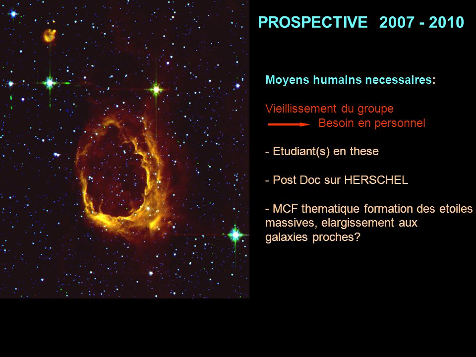 PROSPECTIVE 2007 - 2010 Moyens humains necessaires: