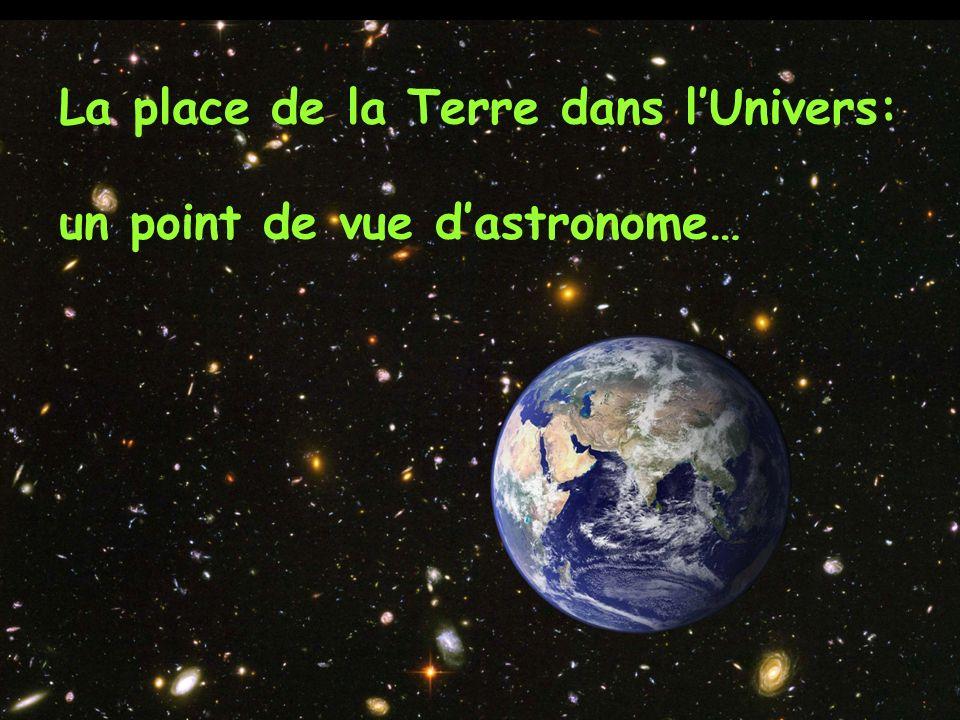 La place de la Terre dans l'Univers: