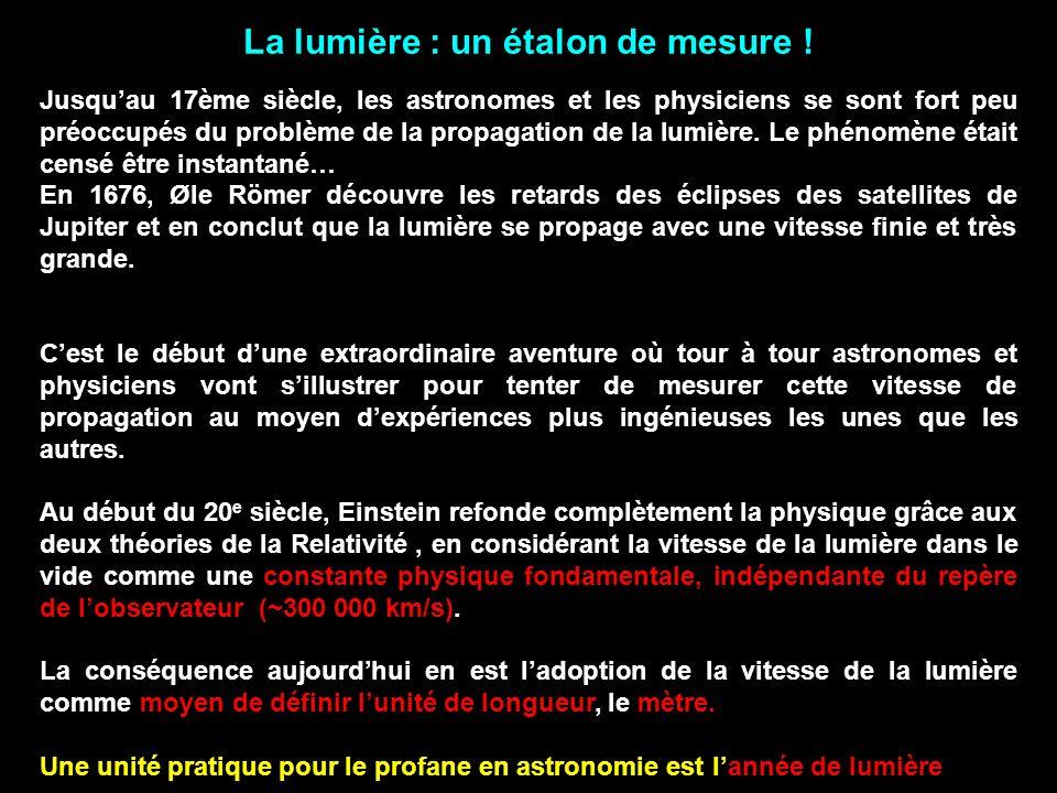 La lumière : un étalon de mesure !