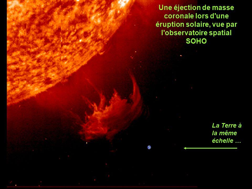 Une éjection de masse coronale lors d une éruption solaire, vue par l observatoire spatial SOHO