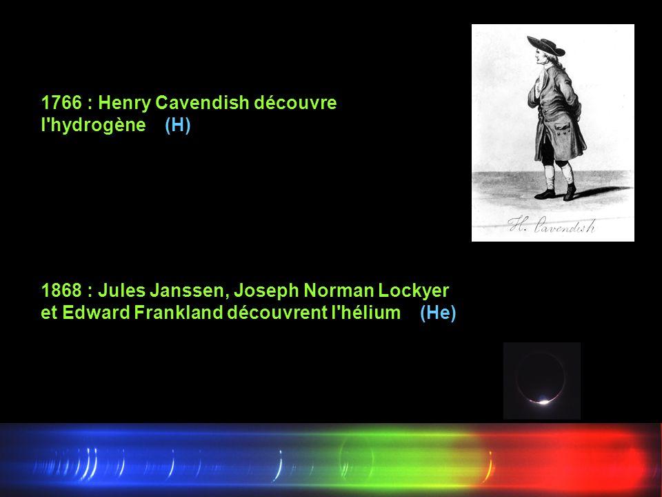 1766 : Henry Cavendish découvre