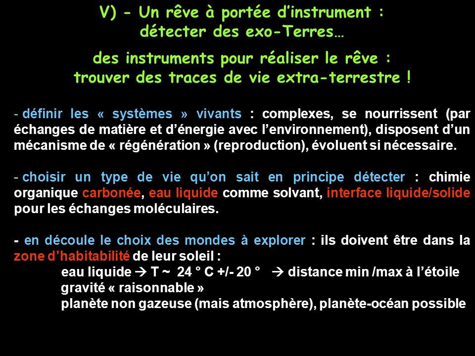 V) - Un rêve à portée d'instrument : détecter des exo-Terres…