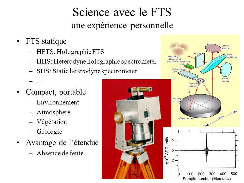 Science avec le FTS une expérience personnelle