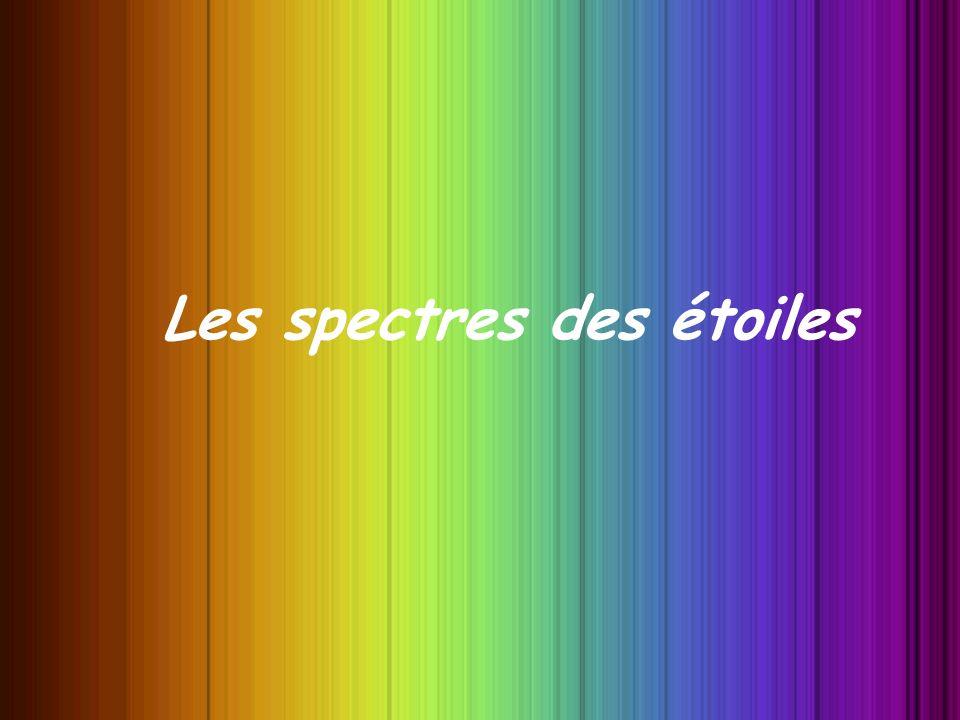 Les spectres des étoiles