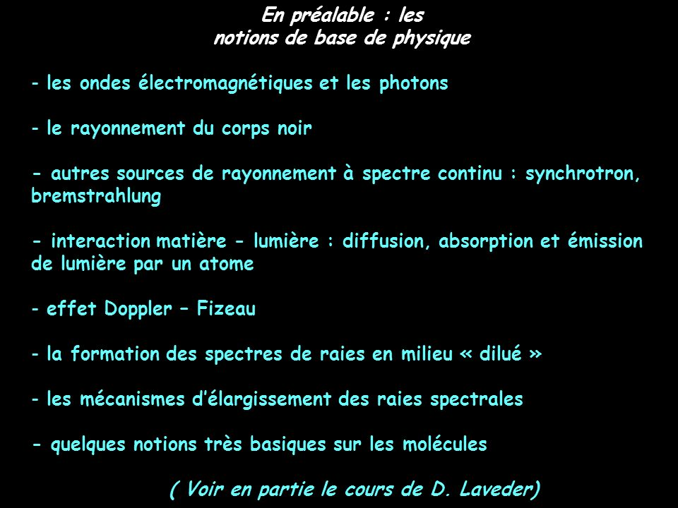 notions de base de physique