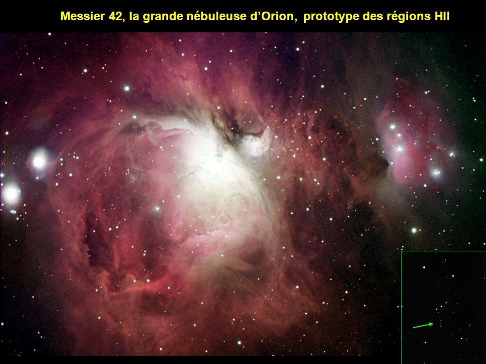 Messier 42, la grande nébuleuse d'Orion, prototype des régions HII