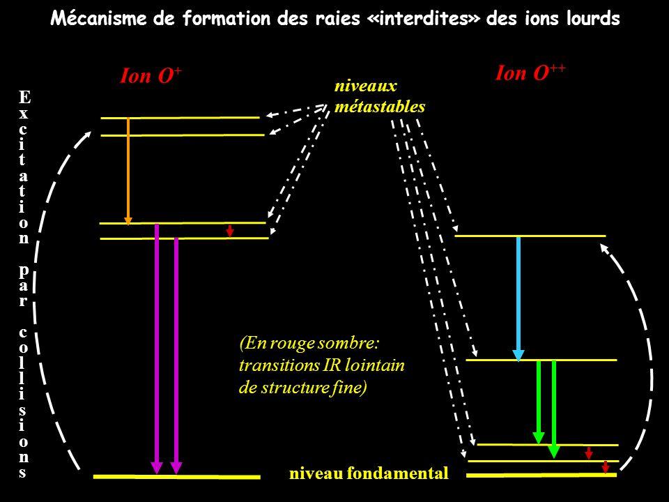 Mécanisme de formation des raies «interdites» des ions lourds
