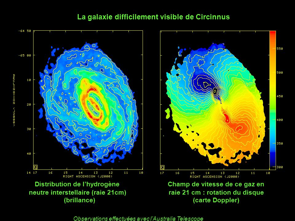 La galaxie difficilement visible de Circinnus