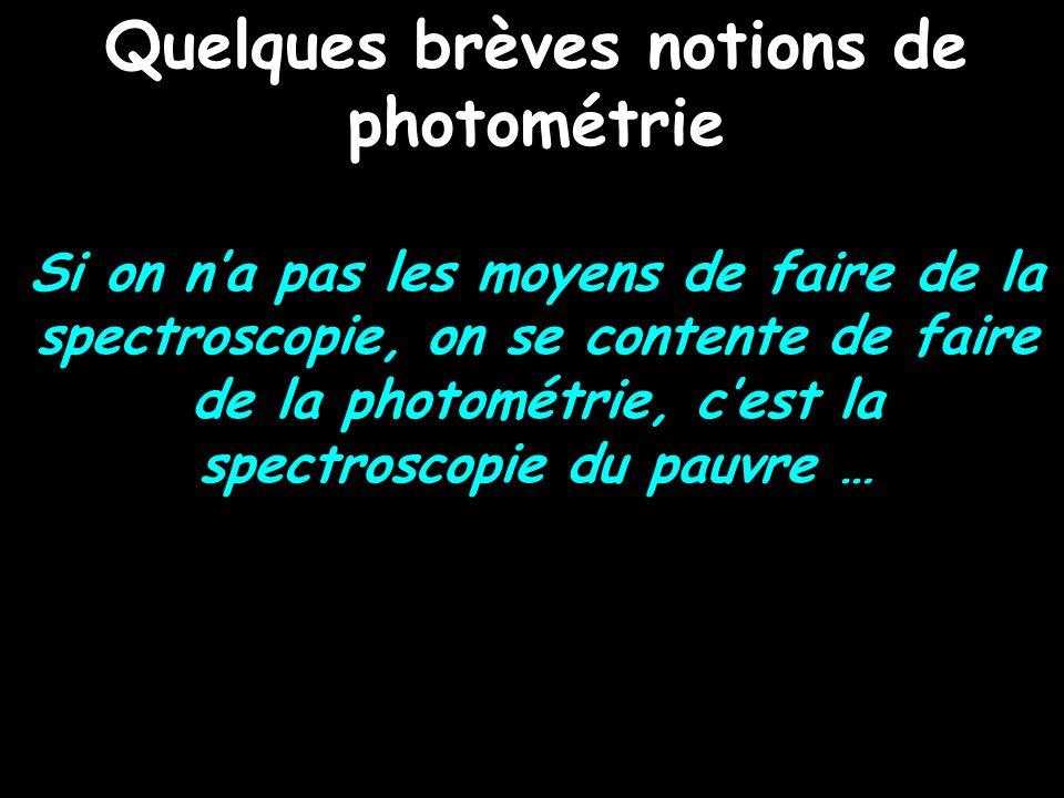 Quelques brèves notions de photométrie