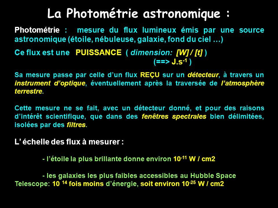 La Photométrie astronomique :