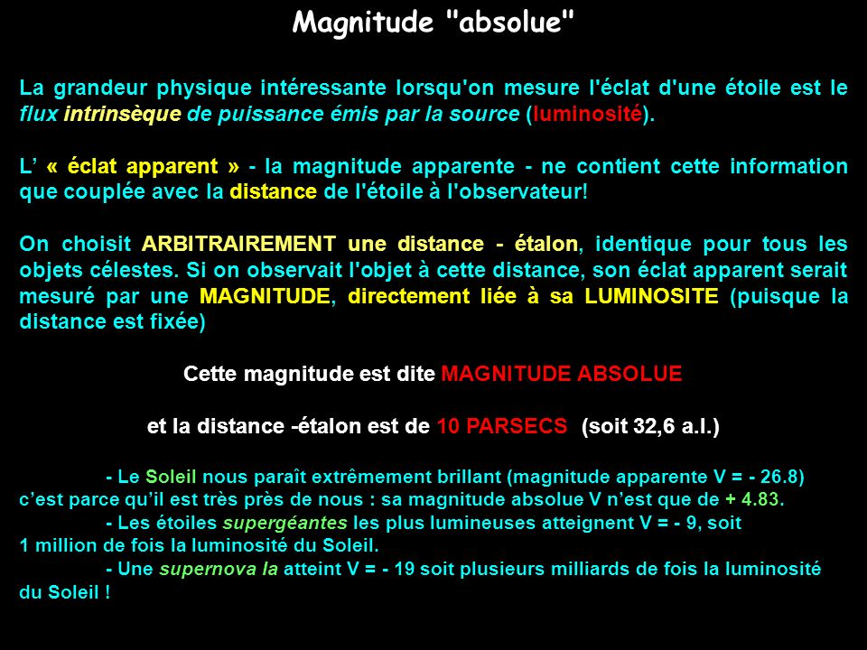 Magnitude absolue
