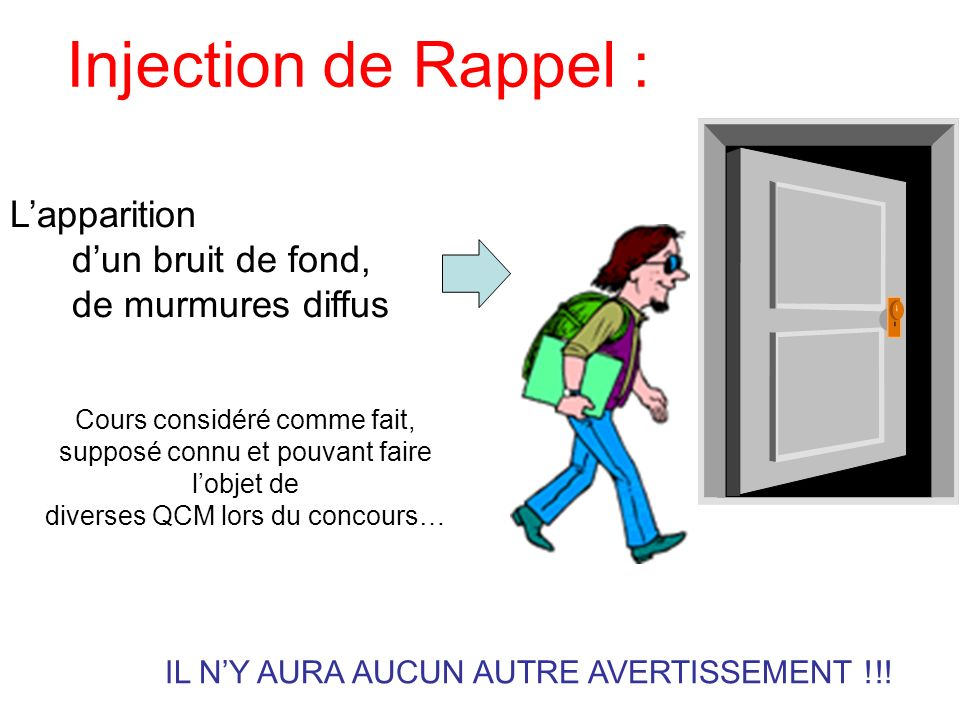 Injection de Rappel : L'apparition d'un bruit de fond,