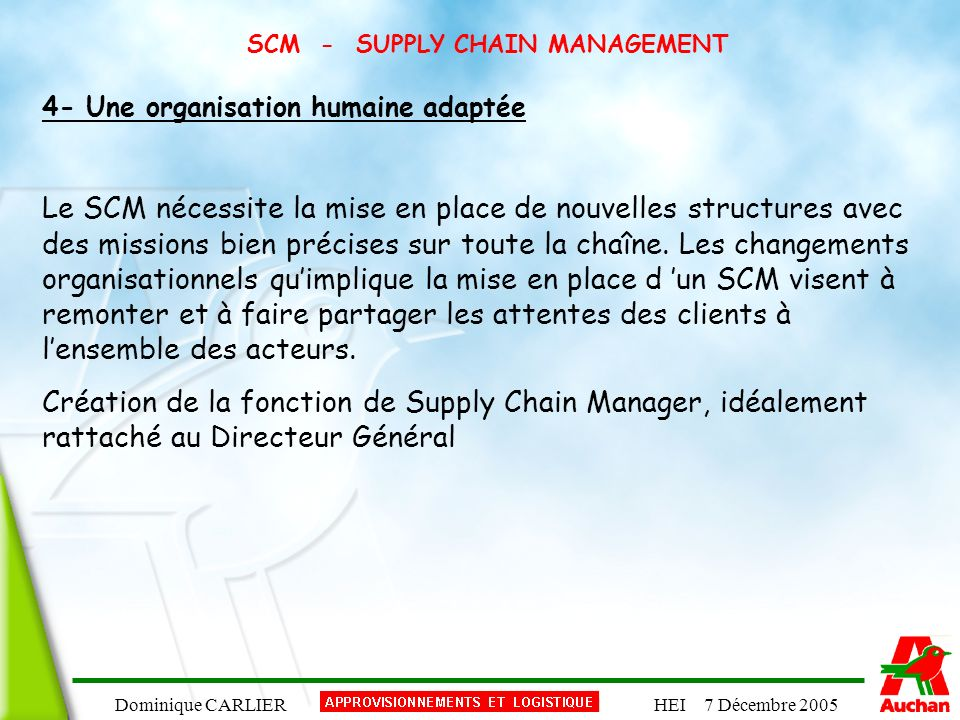 SCM - SUPPLY CHAIN MANAGEMENT