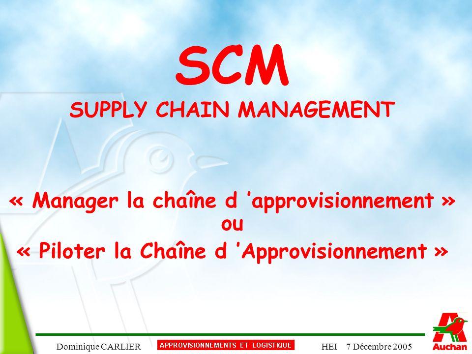 SCM SUPPLY CHAIN MANAGEMENT « Manager la chaîne d 'approvisionnement »