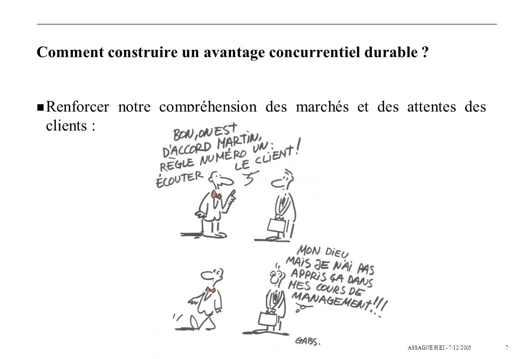 Comment construire un avantage concurrentiel durable