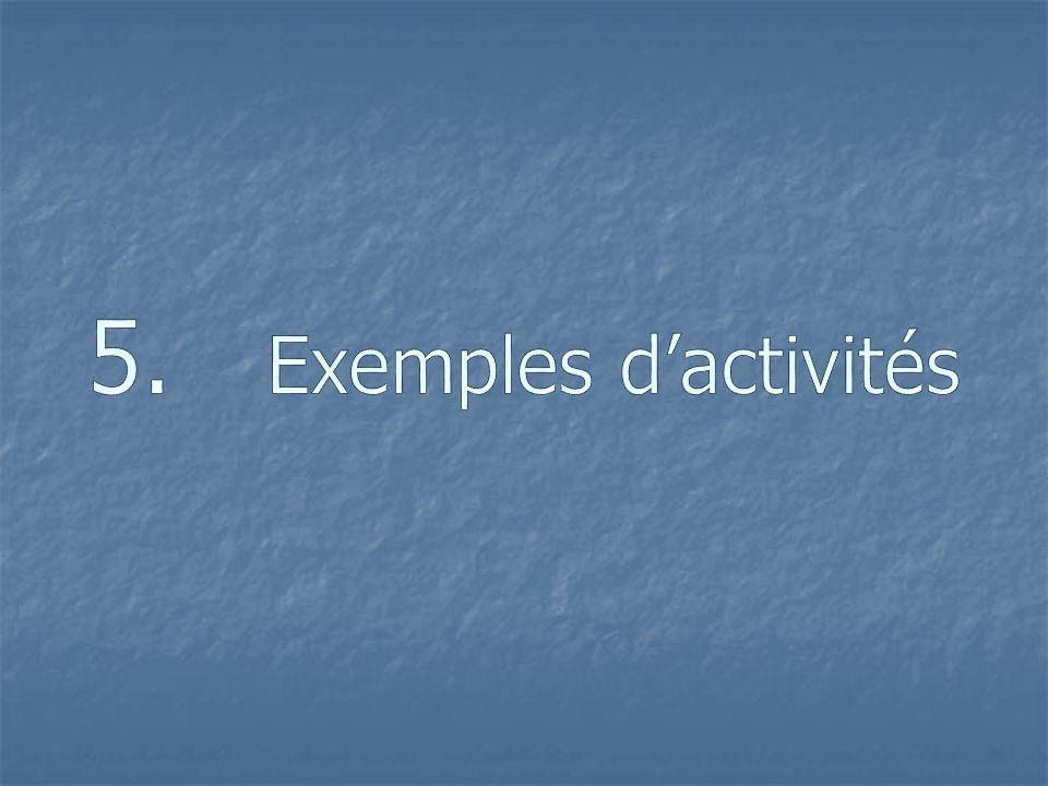 5. Exemples d'activités