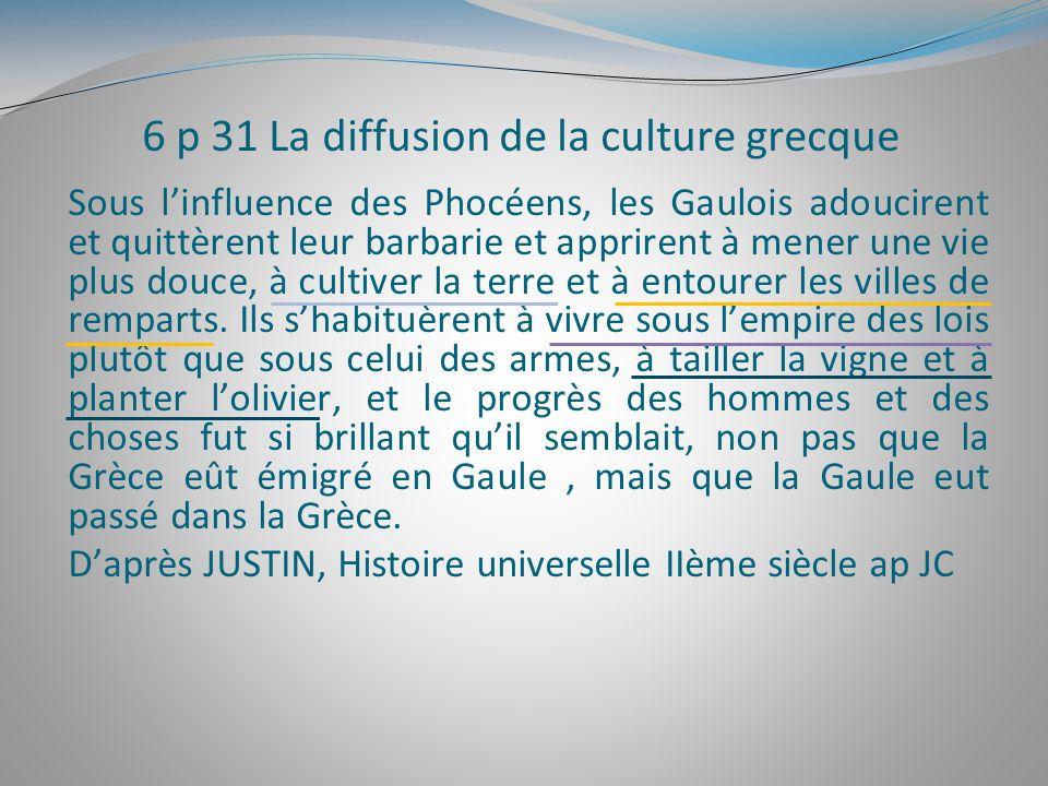6 p 31 La diffusion de la culture grecque