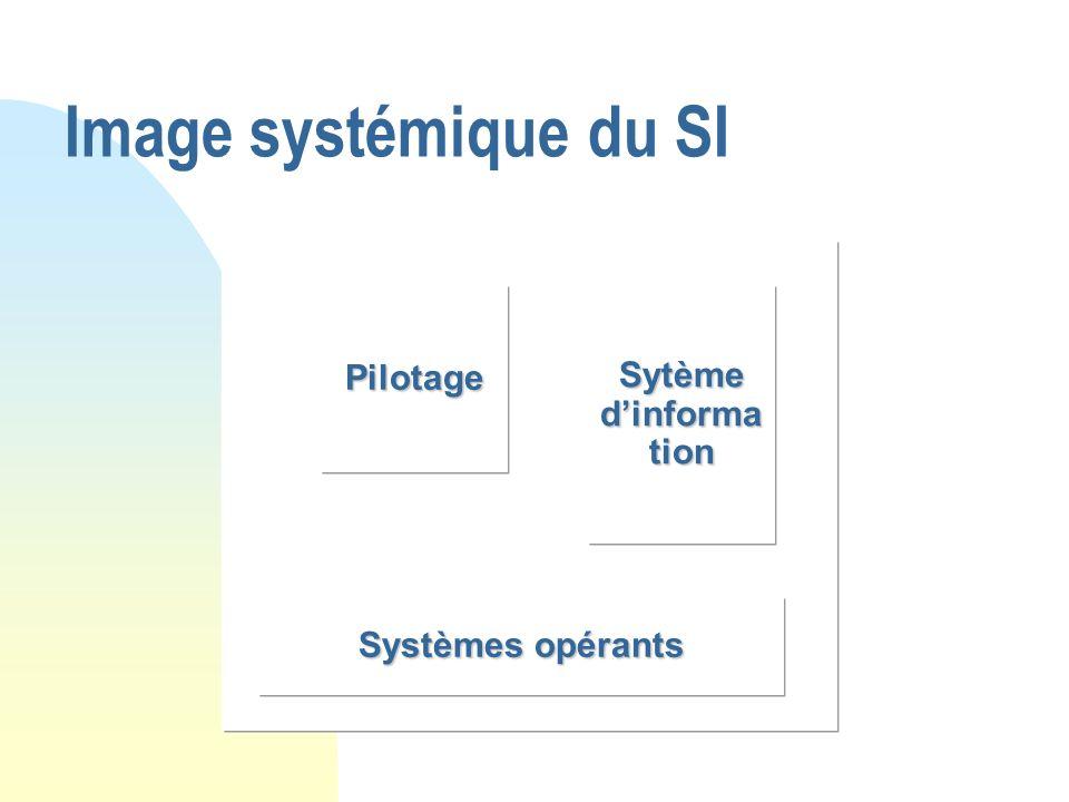 Image systémique du SI Pilotage Sytème d'information Systèmes opérants