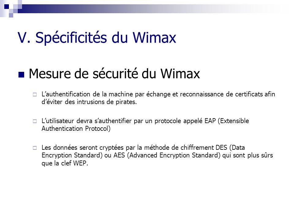 V. Spécificités du Wimax