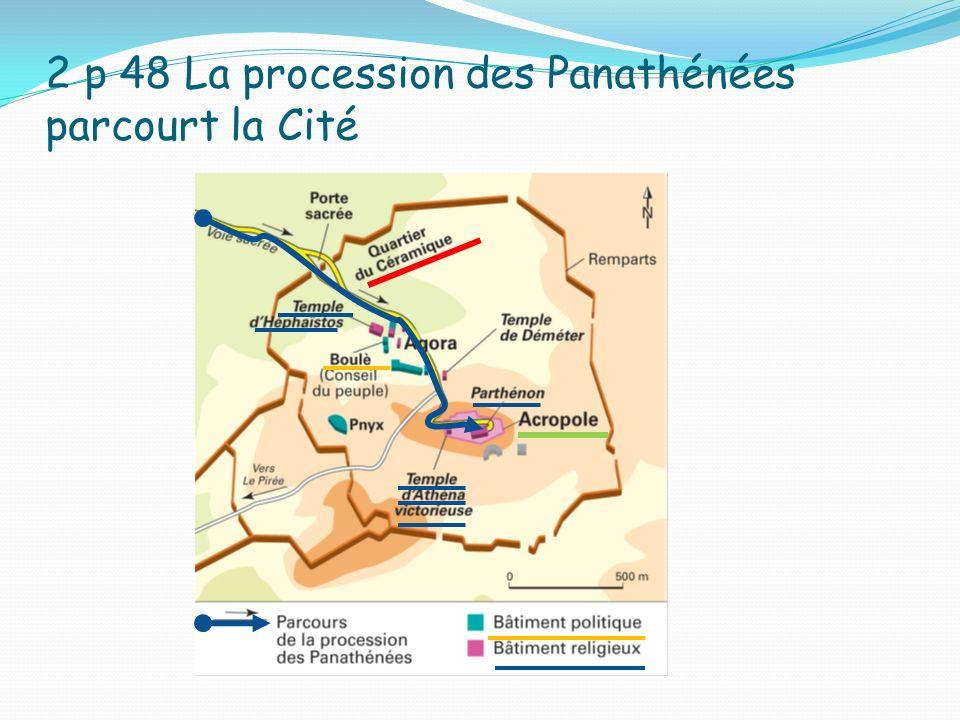 2 p 48 La procession des Panathénées parcourt la Cité