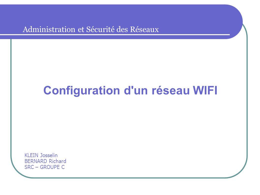 Configuration d un réseau WIFI