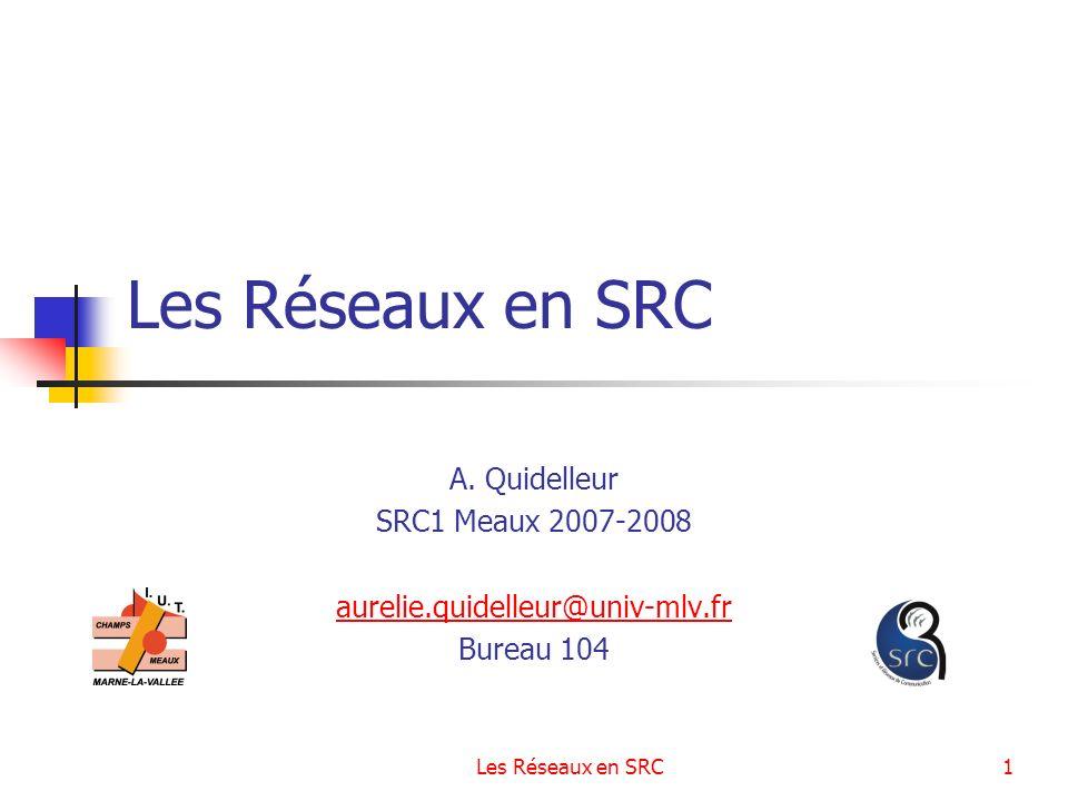 Les Réseaux en SRC A. Quidelleur SRC1 Meaux 2007-2008