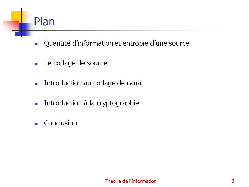 Théorie de l Information