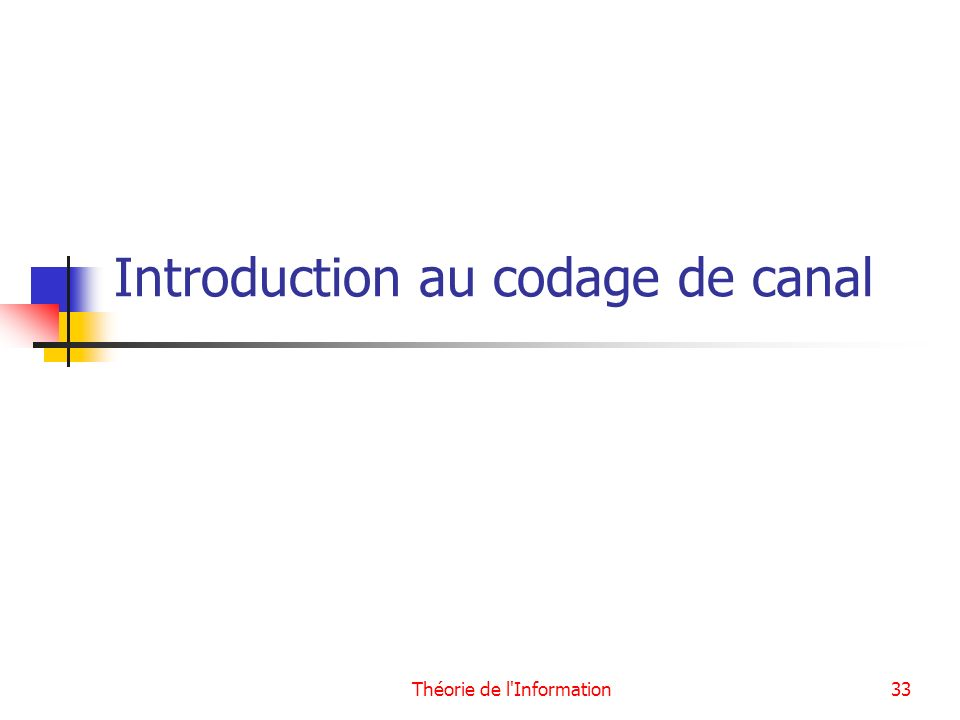 Introduction au codage de canal