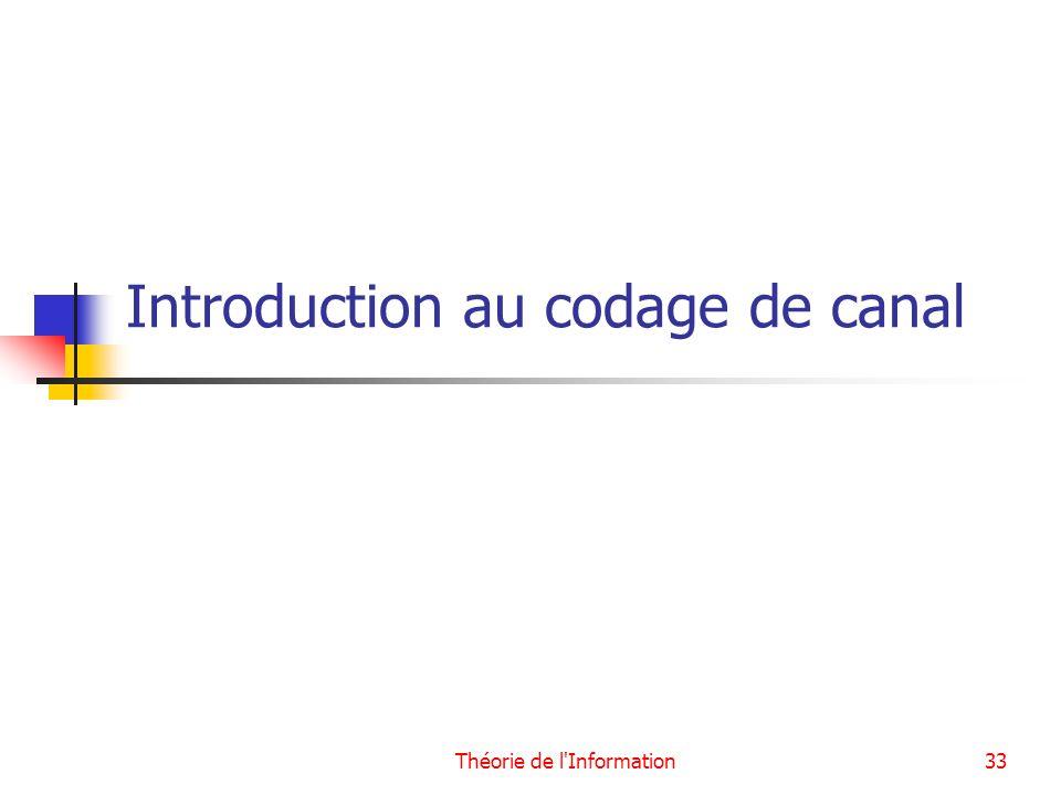 Introduction au codage de canal