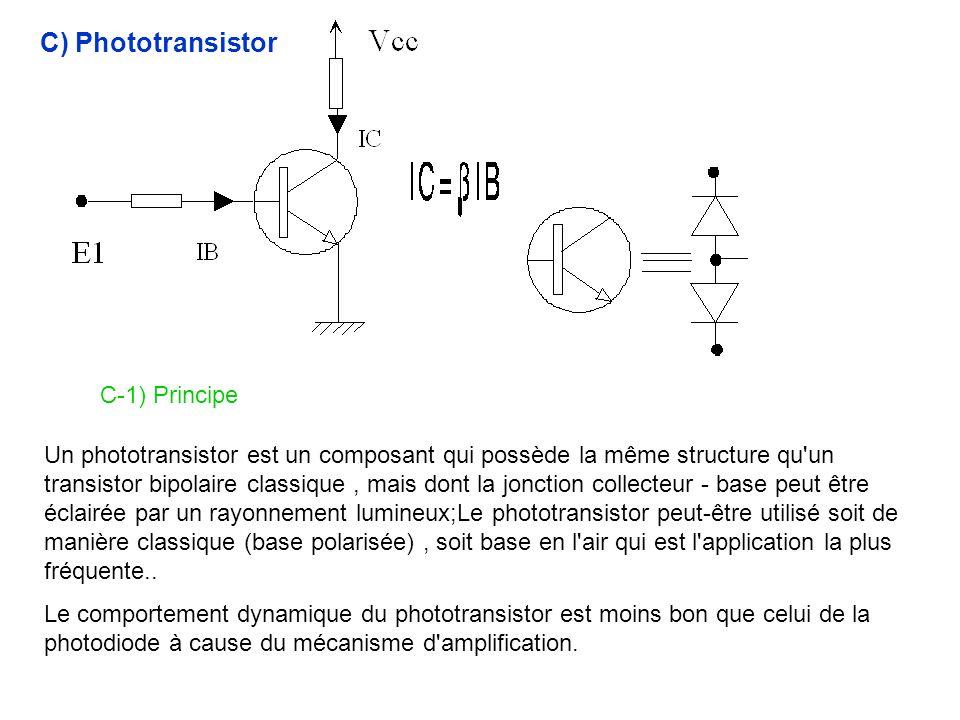 C) Phototransistor C-1) Principe