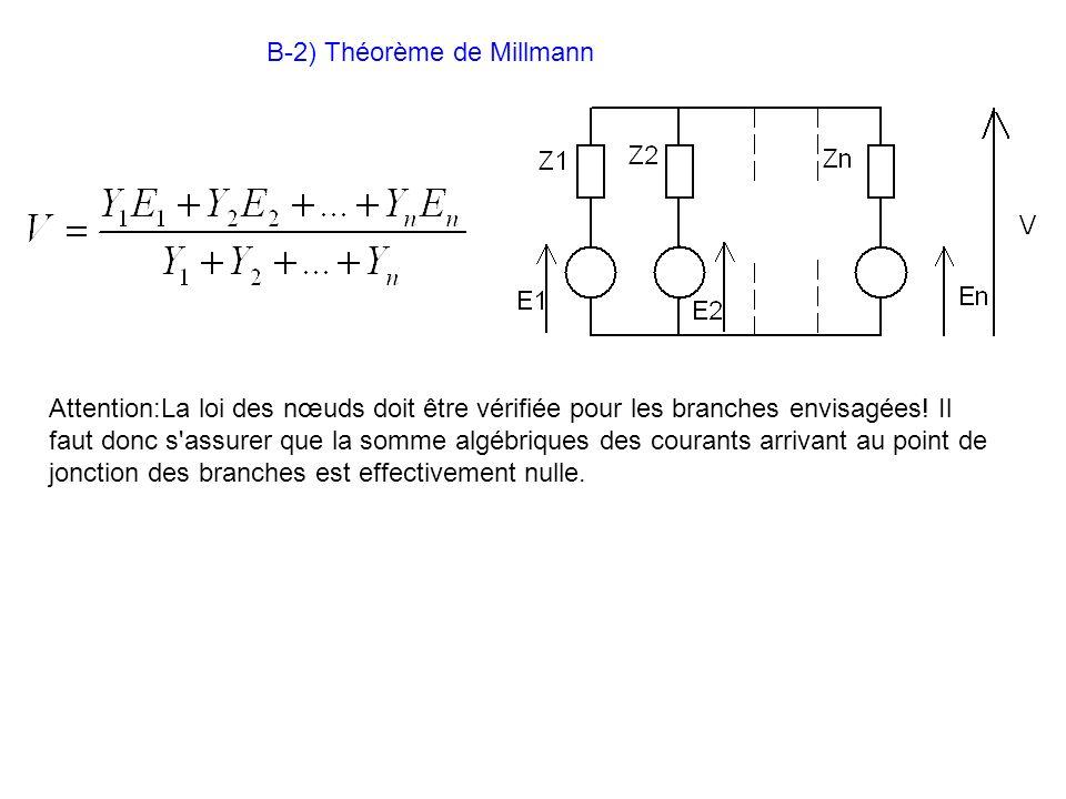 B-2) Théorème de Millmann