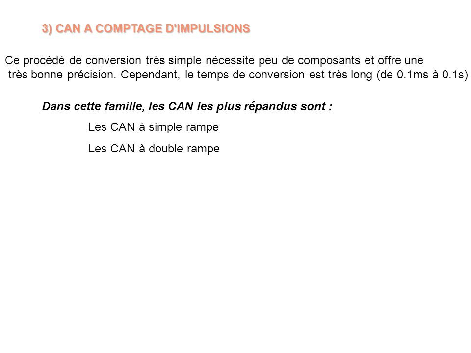 3) CAN A COMPTAGE D IMPULSIONS