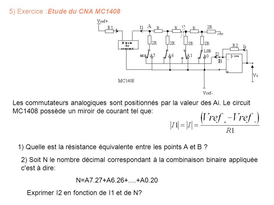 5) Exercice :Etude du CNA MC1408